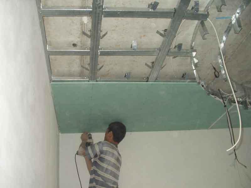Крепеж потолка из гкл