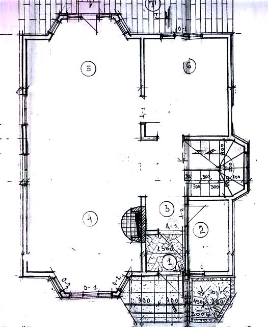 1-й этаж план дома