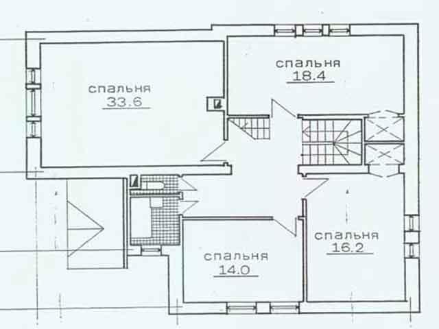 Проект второго этажа дома