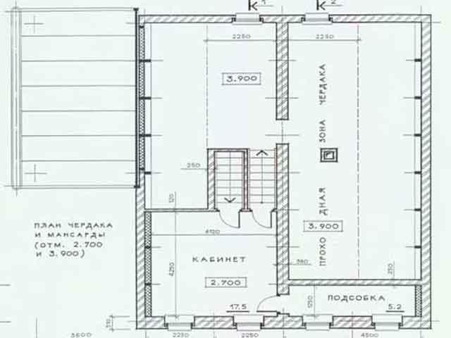 проект мансарды в двухэтажном доме
