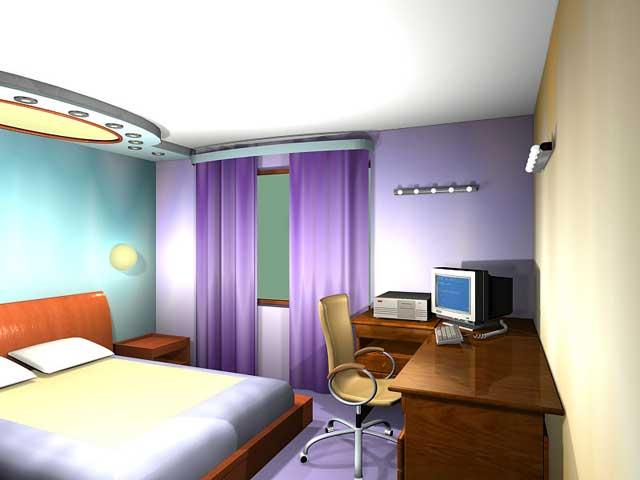 Вид Рабочее место в спальне