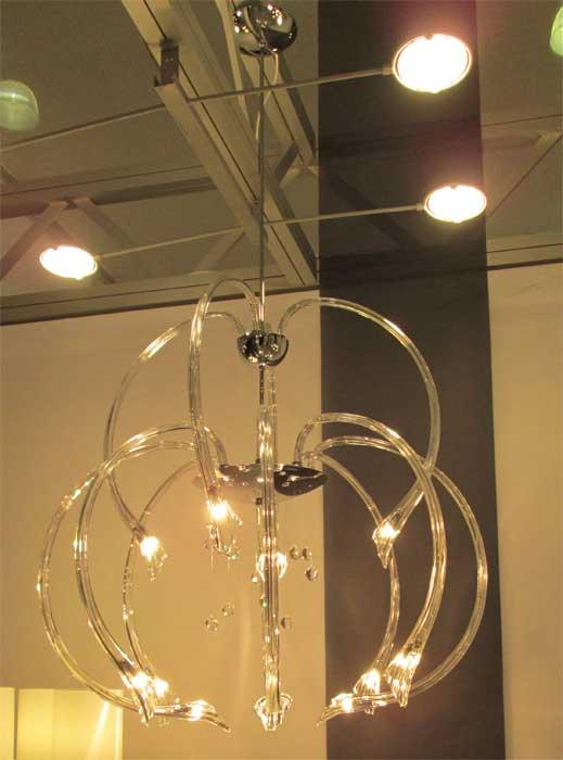 Светодиодная стеклянная люстра