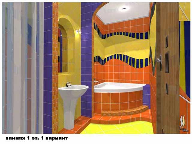 желтые оттенки в ванной комнате