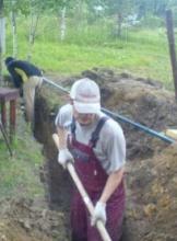 мастер с лопатой